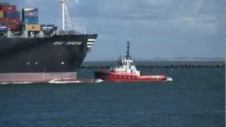 Video Sea ships entering port of Rotterdam MP3, 3GP, MP4, WEBM, AVI, FLV Mei 2018