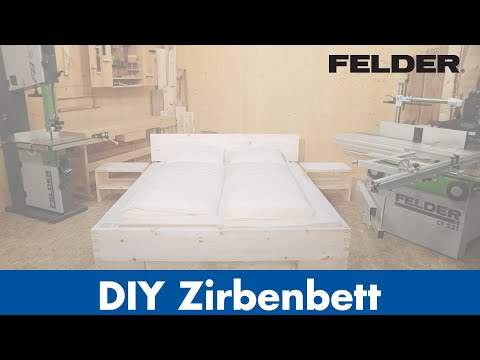 diy tiroler zirbenbett produziert mit felder. Black Bedroom Furniture Sets. Home Design Ideas