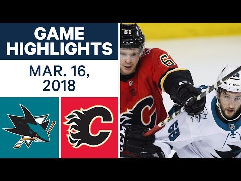 Video: NHL Game Highlights | Sharks vs. Flames - Mar. 16, 2018