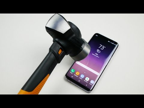 Samsung Galaxy S8 Plus Hammer and Knife Test