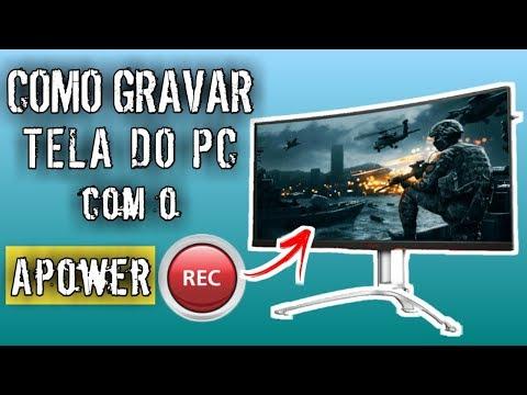 COMO GRAVAR TELA do Computador com ApowerREC - TUTORIAL