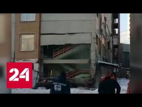 Взрыв газа в подмосковных Люберцах: двое пострадавших (видео)