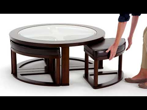 Marion T477-8 Cocktail Table w/ 4 Stools