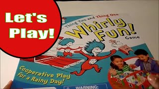 Unboxing Dr. Seuss Thing One Thing Two Whirly Fun Game