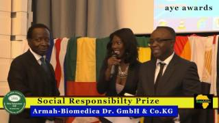 Dr. Benjamin Armah receives Social Responsibility Prize at AYE AWARDS