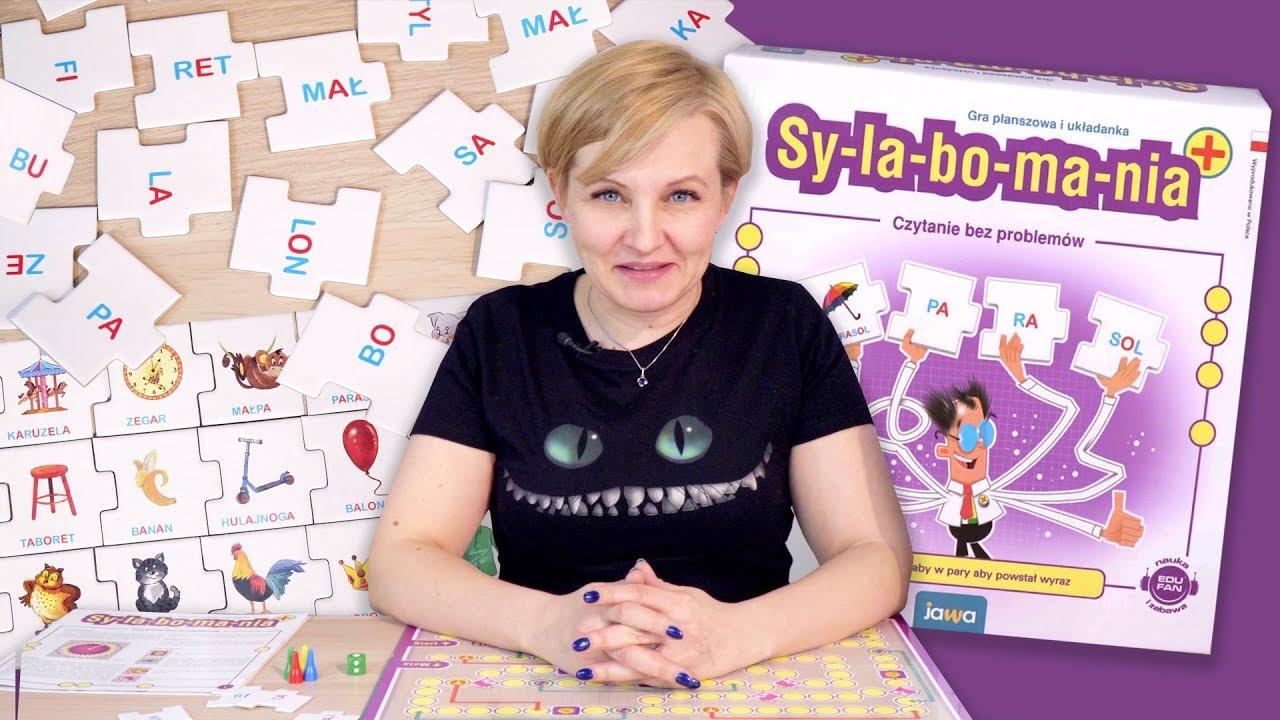 SYLABOMANIA - Gra planszowa pomagajaca w nauce czytania, Jawa