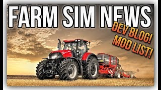 FARM SIM NEWS! | Mods In Testing & New Dev Blog For FS19 Anderson DLC Info