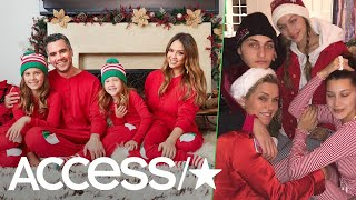 Jessica Alba, Gigi Hadid & More Stars Rock Matching Christmas Pajamas With Their Families | Access