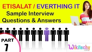 etisalat | everthing it top most interview questions and answers for freshers / experienced