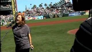 <b>Dana Parish</b> Sings National Anthem At Giants Game