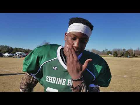 KJ Henry at 2017 Shrine Bowl practice