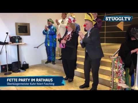 OB Fritz Kuhn feiert Fasching im Rathaus