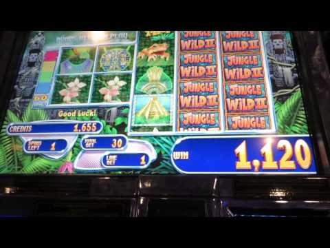 Slot Machines!  It ends with a Jackpot # 1