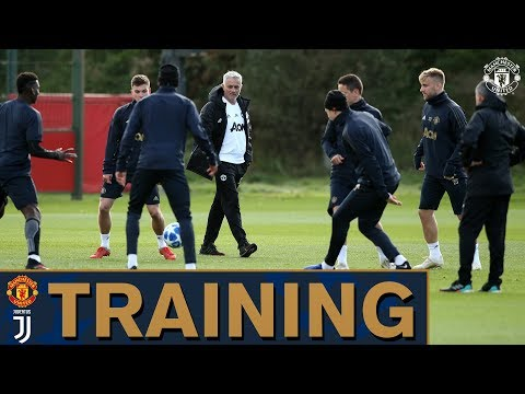 Jose Mourinho leads Manchester United training ahead of Juventus UEFA Champions League match