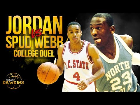 Young Michael Jordan vs Spud Webb College Duel | Feb 18, 1984 | SQUADawkins