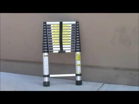 12.5Ft 12 1/2ft Telescopic Aluminum Extension Step Ladder Ansi Certify/ DEMO TEST