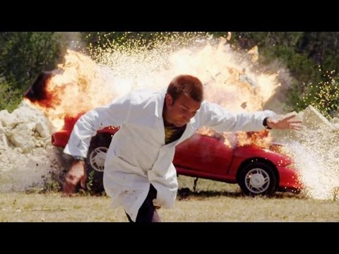 Movie scene recreated with exploding Cavalier