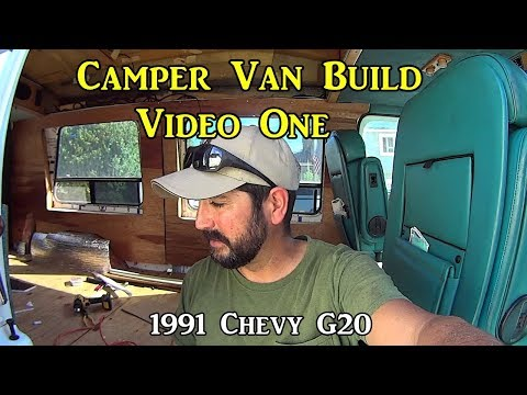 Adventure Van Build One - Tear Out, Insulation, Paneling, and Bed (видео)