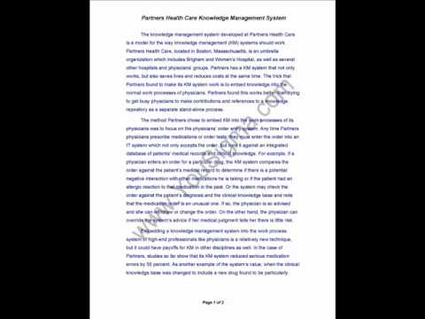 Case Study – Partners Health Care Knowledge Management System (#in)