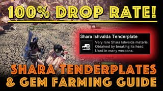 100% Drop Rate Shara Tenderplates & Gem Farm! (MHW Iceborne)