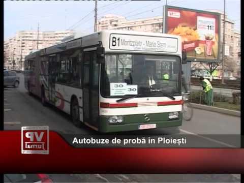 Autobuze de probă în Ploiești