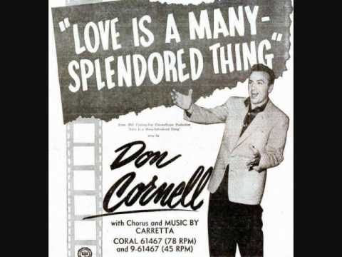 Tekst piosenki Don Cornell - Love Is A Many-Splendored Thing po polsku
