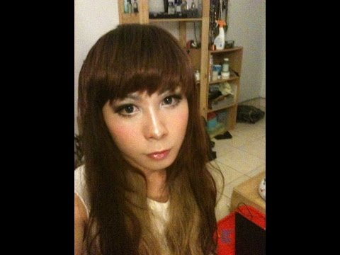 Boy to girl Transformation makeup (on webcam) 网路视讯男变女'妆'