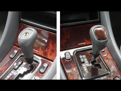 Woodworking repair on Mercedes Benz gear shift knob