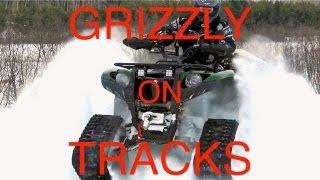 8. Yamaha Grizzly 700 On Tracks! - Camoplast Tatou T4S Tracks First Test Ride