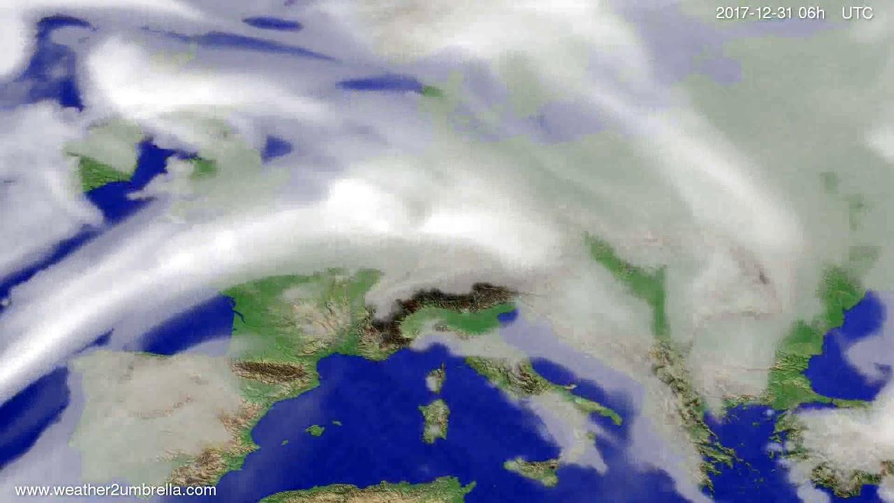 Cloud forecast Europe 2017-12-28