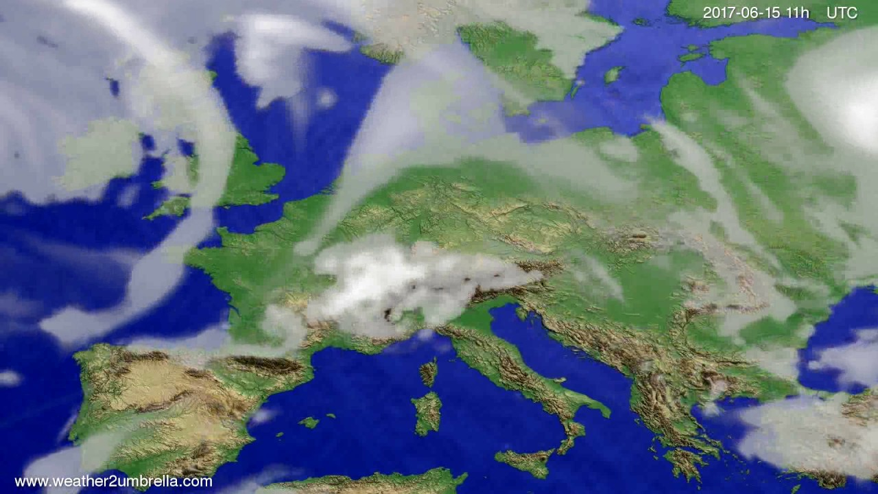 Cloud forecast Europe 2017-06-12