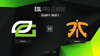 OpTic vs Fnatic - ESL Pro League Season 9 EU - map3 - de_dust2 [TheCraggy & ceh9]