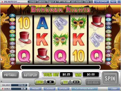 Bangkok Nights video slot at Online Vegas