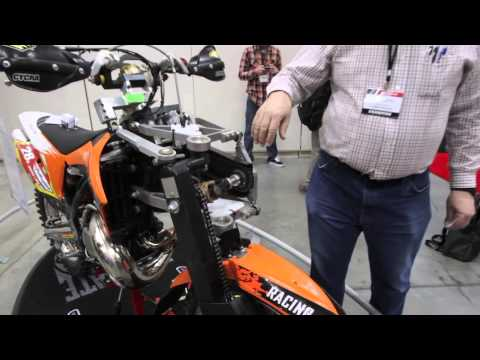 two wheel drive - While at the 2013 Indy Dealer Expo the Dirt Rider crew took some time to check out the Lawson AWD all wheel drive KTM two-stroke. This third generation proto...