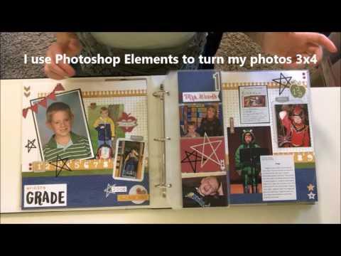 School Scrapbook Album with CTMH Flip Flaps