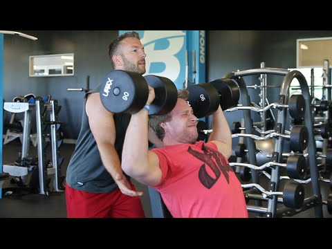 Shoulders/Biceps Workout With Ryan Deluca (CEO of Bodybuilding.com) | Furious Pete