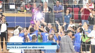 Salto comemora conquista da série ouro da Copa Record