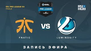 Fnatic vs Luminosity - ESL Pro League Finals - de_cobblestone [GotMint, SleepSomeWhile]