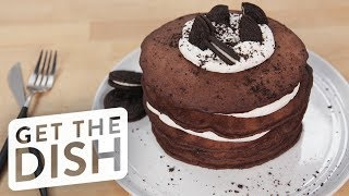 Oreo Pancakes | Get the Dish by POPSUGAR Food