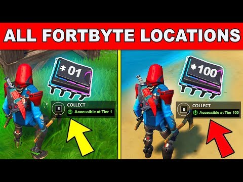 *NEW* ALL FORTBYTE LOCATIONS UPDATED!- Collect All Fortbytes Fortnite Season 9 (Fortbyte Challenges)