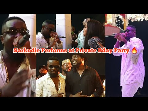 Exclusive🔥... Sarkodie Performs for a Richman's Wife on her Private Birthday Party as a Surprise