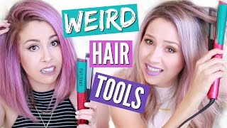 I BURNED MY HAIR?! | TESTING WEIRD HAIR TOOLS by Eleventh Gorgeous