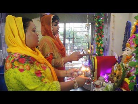 Ganpati Visarjan Bharti's House   Exclusive Interv