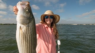 Fishing for striper or striped bass with my wife on the lake and doing a catch and cook in our kitchenSUBSCRIBE - https://www.youtube.com/lakeforkuyFISHING VLOGS - https://www.youtube.com/playlist?list=PLF43D57E0A9B443B3MORE WIFE FISHING VIDEOShttps://www.youtube.com/playlist?list=PLp4iAE2LClKa41BFWFYfFUmPgbr4WT3BbDANNY WITH BIG BITE GUIDE SERICE ON LAKE WHITNEYhttp://bit.ly/BIGBITESTRIPERGET OFFICIAL FISHING FREAK GEAR HEREhttp://bit.ly/LFGMERCHLISTEN TO THE PODCASThttp://bit.ly/HOOK-ARROWINSTAGRAM https://www.instagram.com/lakeforkguySNAPCHAT - LakeForkGuyFACEBOOK https://www.facebook.com/lakeforkguyMail me stuff that won't kill me : )Justin RackleyPO Box 280Wellborn, TX 77881ABOUT LFGJustin Rackley, known as Lakeforkguy in the fishing world, creates fishing and outdoor videos on youtube and other social platforms.  LFG provides fishing tips and techniques for mostly largemouth bass fisheries but also travels to other freshwater and saltwater fishing spots to explore new fish species and fishing techniques to show as many fishing places as possible and help you catch more fish.  Lakeforkguy likes to hang out on any fishing vessel or go bank fishing with his other YouTube Fishing friends and vlog with his Wife Stephanie and french bulldog Winston.---------------------------------------------------GEAR----------------------------------------------------CAMERASDSLR Camera (Panasonic GH5) - http://amzn.to/2a6frQEStatic Shot (Gopro Hero 4 Black) - http://amzn.to/2aiE4wQMetabones Speedbooster 4/3 EF Mount - http://amzn.to/2aoWey0CASESWaterproof Travel Case For My DSLR and Lenseshttp://amzn.to/2kLIOjiMetal Gopro Case with Filtershttp://bit.ly/GoProMetalCaseCheap GoPro Travel Casehttp://amzn.to/2kk30ugLENSESCanon 24-105mm L Lens - http://amzn.to/2a6fNqxRokinon 14mm WIDE - http://amzn.to/2aJRmkSAUDIOSony UWPD11/42 Lavalier Microphone - http://amzn.to/2afp1jHGopro Chesty Lav Mic (Cheap) - http://amzn.to/2azAMo1DSLR Shot Gun Mic - http://amzn.to/2anoJh9