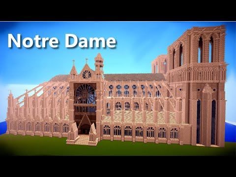 Minecraft - Cathedral Notre Dame - 2 mln Blocks