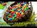 Guloseima: Bolo com Kit Kat e M&M's prático