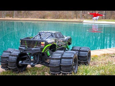 WILL IT DRIVE ON WATER!! (MONSTER TRUCK XMAXX MOD)