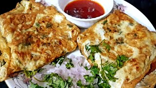 Bread omelette quick and easy breakfast make in 5 minutes