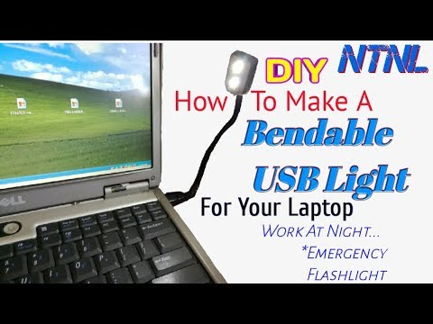 How to make a simple USB light - For Your Laptop - NTNL DIY Tutorial (видео)