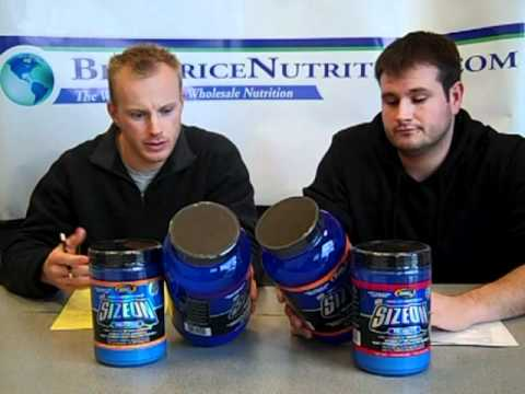 size on - http://www.bestpricenutrition.com - Review on Gaspari Nutrition Size-On Max vs. Size-On Pre Contest. Find out what the ingredients are, what the differences ...
